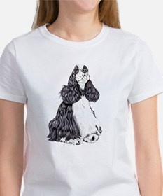 Cocker Spaniel BW Parti Women's T-Shirt