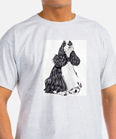 Cocker Spaniel BW Parti T-Shirt
