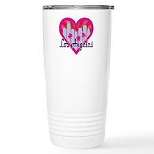 LA Skyline Sunburst Heart Travel Mug