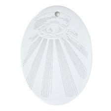 illuminati new world order 911 Oval Ornament