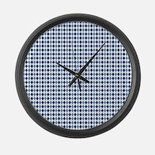 UNC Argyle Carolina Blue Tarheel Large Wall Clock