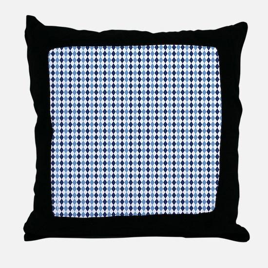 UNC Argyle Carolina Blue Tarheel Throw Pillow