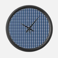 UNC Carolina Blue Basketball Argy Large Wall Clock