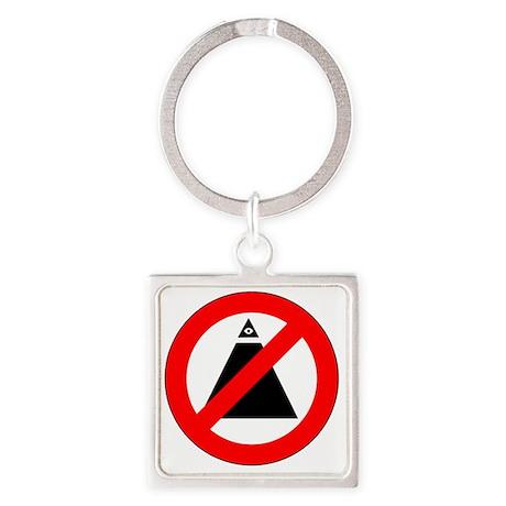 illuminati new world order 911 Square Keychain
