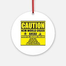 illuminati new world order 911 Round Ornament