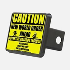 illuminati new world order Hitch Cover