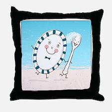 dishspoonsquare Throw Pillow