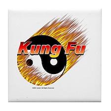 Tile Coaster  Kung Fu 3D shadow