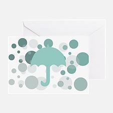 Cute Dorm Umbrella Greeting Card