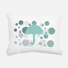 Mint POlka Dots Rectangular Canvas Pillow