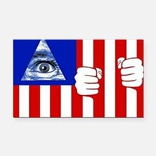 illuminati new world order 91 Rectangle Car Magnet