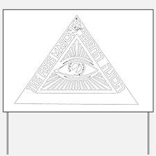 illuminati new world order 911 Yard Sign