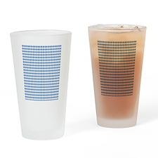 UNC Carolina Blue Argle Basketball Drinking Glass