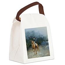 PB Piaffe Dressage Horse Canvas Lunch Bag