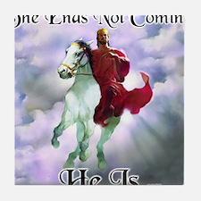 Jesus on Horseback Descending from Cl Tile Coaster
