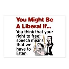 Liberal Free Speech Postcards (Package of 8)