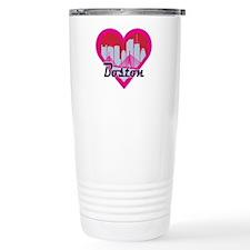 Boston Skyline Heart Travel Mug
