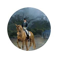 """PB Piaffe Dressage Horse 3.5"""" Button"""