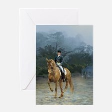 PB Piaffe Dressage Horse Greeting Card