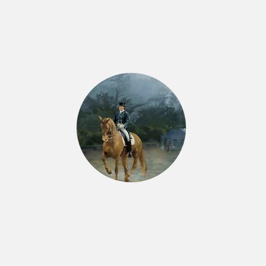 PB Piaffe Dressage Horse Mini Button