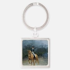 PB Piaffe Dressage Horse Square Keychain