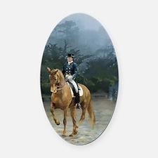 PB Piaffe Dressage Horse Oval Car Magnet