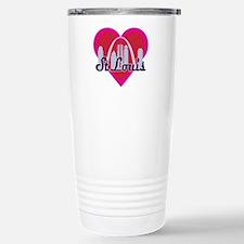 St Louis Skyline Heart Travel Mug