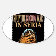 Stop The Bloody War In Syria Decal