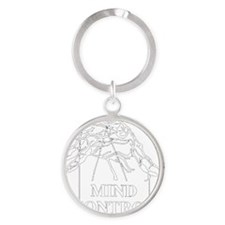 illuminati new world order 911 Round Keychain