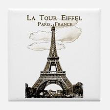 Eiffel Tower-Paris-France-1-Sepia Tile Coaster