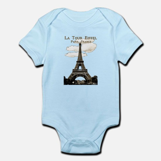 Eiffel Tower-Paris-France-1-Sepia Body Suit