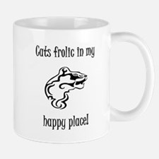 Cats frolic in my happy place Mug