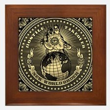 illuminati new world order 911 Framed Tile