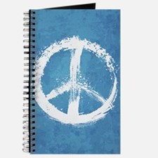 Grunge Peace Sign Journal