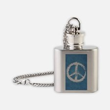 Grunge Peace Sign Flask Necklace
