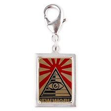 illuminati new world order 9 Silver Portrait Charm