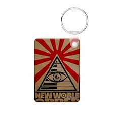 illuminati new world order Keychains