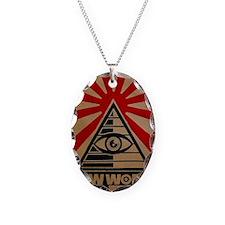 illuminati new world order 911 Necklace