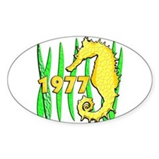 Seahorse, 1977 Oval Decal