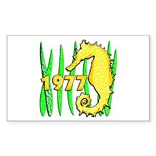 Seahorse, 1977 Rectangle Decal