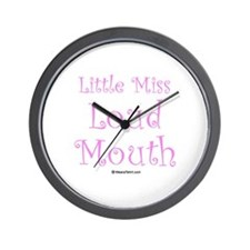 Little Miss Loud Mouth Wall Clock