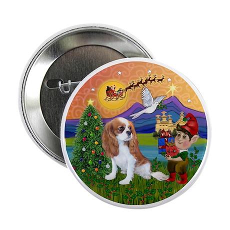 "XFantasy-Cavalier pup (bl) 2.25"" Button"