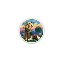 St Francis / 4 Cavaliers Mini Button