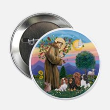"St Francis / 4 Cavaliers 2.25"" Button"
