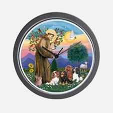 St Francis / 4 Cavaliers Wall Clock