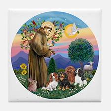 St Francis / 4 Cavaliers Tile Coaster