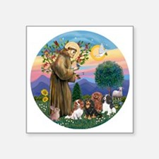 "St Francis / 4 Cavaliers Square Sticker 3"" x 3"""