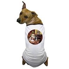 Santa-3Cavaliers Dog T-Shirt