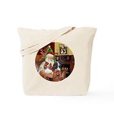Santa-3Cavaliers Tote Bag