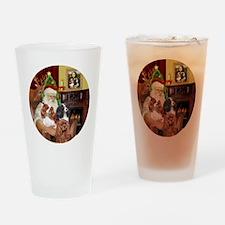 Santa-3Cavaliers Drinking Glass